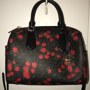 Michael Kors red roses doctor bag NWT GORGEOUS